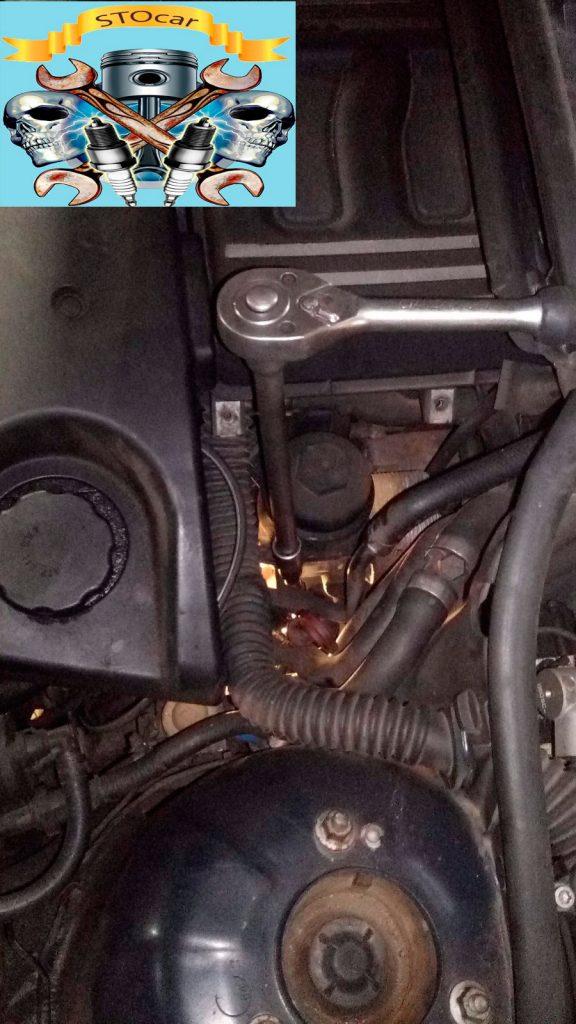 Замена передних опор двигателя BMW 320d
