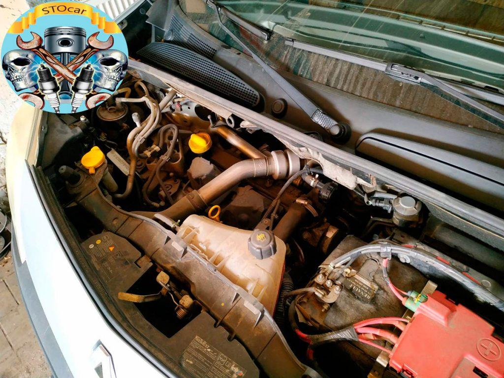 Замена главного цилиндра сцепления на автомобиле Renault Kangoo 2008 года 1.5D